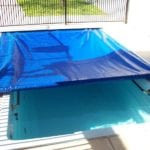 Swimming Pool covered with a pool cover