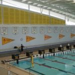 Wall around the swimming pool