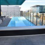 majestic pool bench black